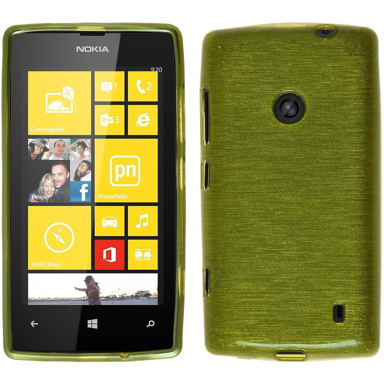 pretty nice 56141 275db Amazon.com: PhoneNatic Silicone Case for Nokia Lumia 520 Brushed ...