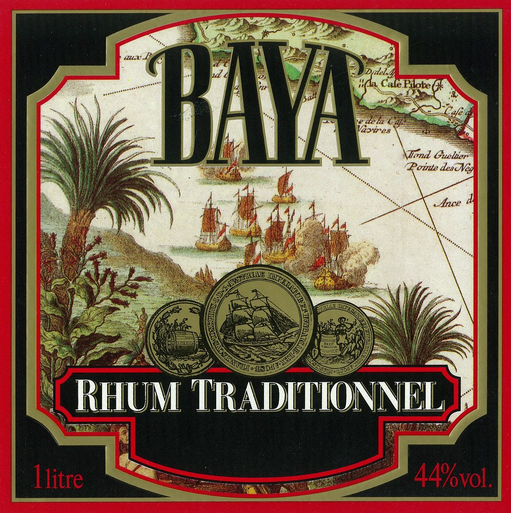 Amazon.com: Rhum Traditionnel Baya Brand Rum Label (12x18 Fine Art Print, Home Wall Decor Artwork Poster): Posters & Prints