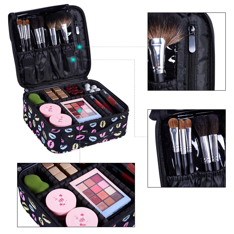 S Rouge Dccn Train Malette De Maquillage Professionnel Beauty Case 3 Couche Coffret Sac Trousse Cosmetique Organiseur Pour Pinceaux De Maquillage Vernis A Ongles 26cmx24cmx10cm Smael Co Id