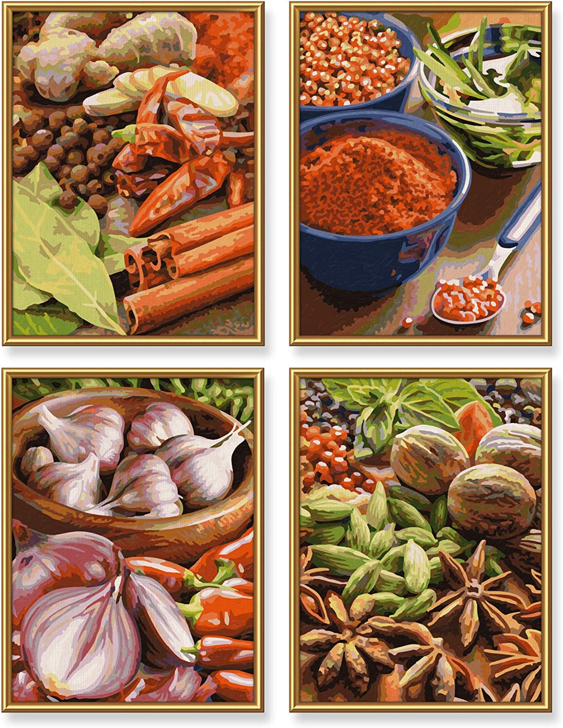 Schipper 609340719 Spices Paint by Numbers Board