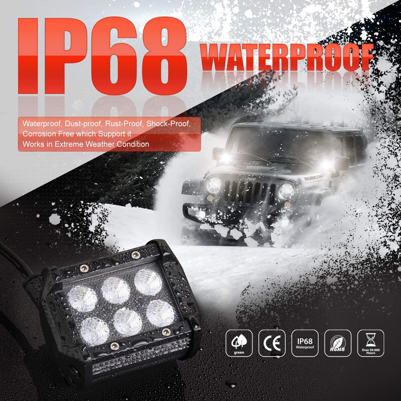LED Pods OFFROADTOWN 4inch 36w LED Work Light Bar Flood LED Cubes Off Road Driving Light Fog Lights for Trucks Jeep ATV UTV SUV Boat Lamp