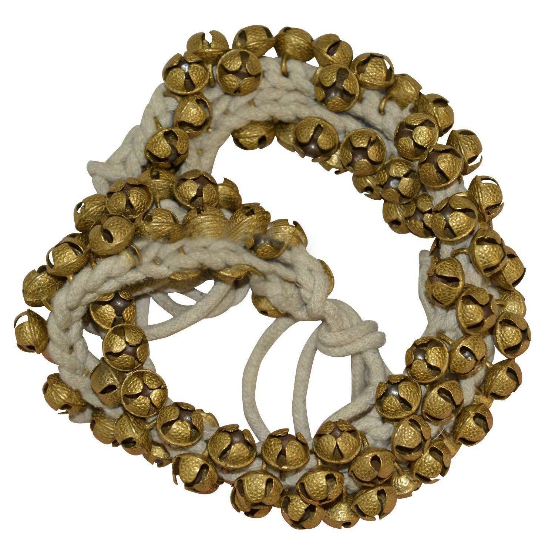 Arts From India Ghungroo 50-50 Bells Pair, Ghungru 2 cm, 14 No. Big Bells (Total 100 Bells) Dancing Bells ghungroo kathak 50 bells