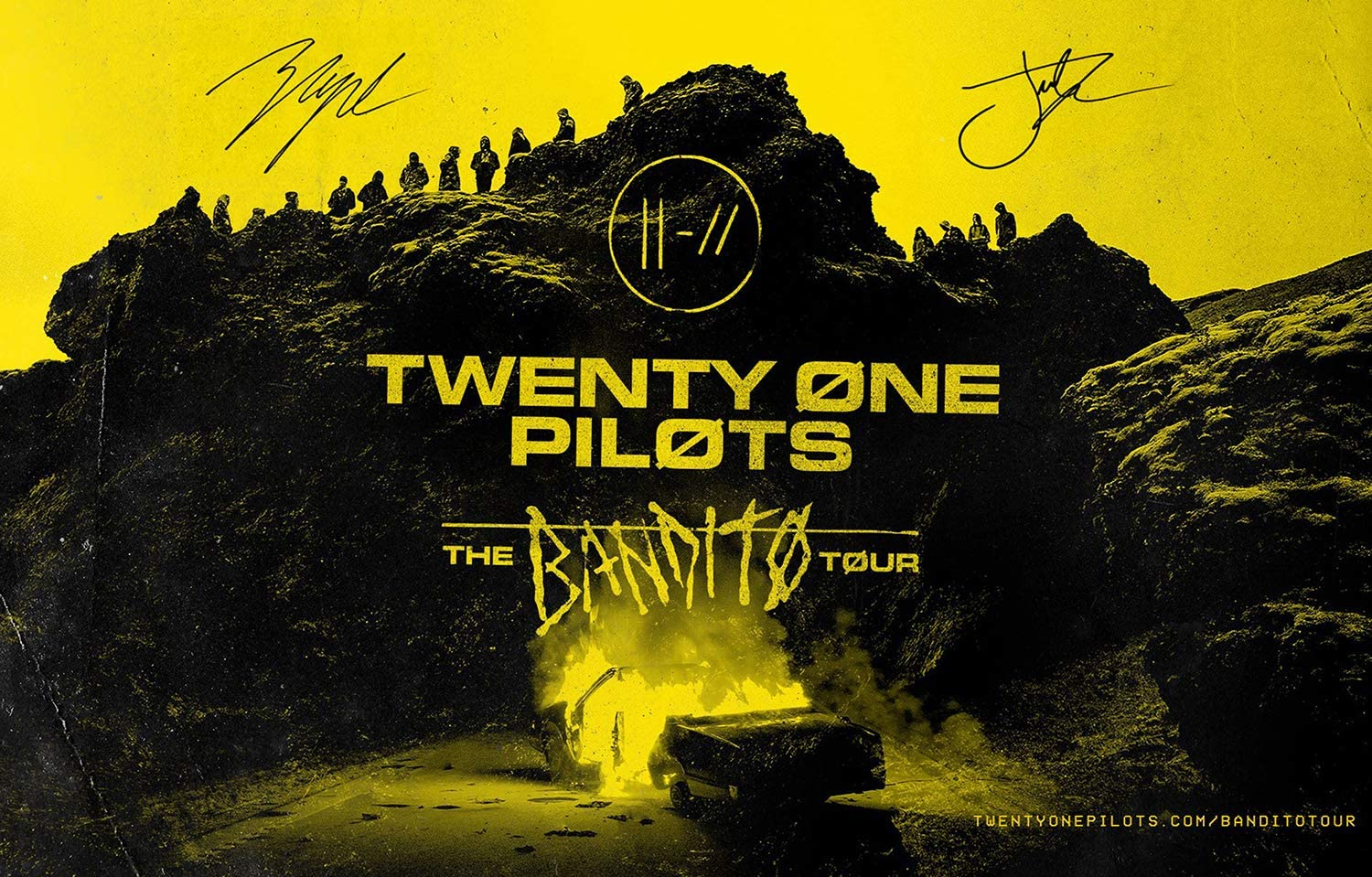 Amazon Com Rock Poster 21 The Bandito Tour Signed Posters And Prints Unframed Wall Art Gifts Decor 16x25 Posters Prints
