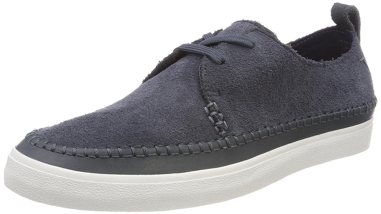 Clarks Kessell Craft, Zapatos de Cordones Derby para Hombre 42 EU|Azul (Blue Suede)