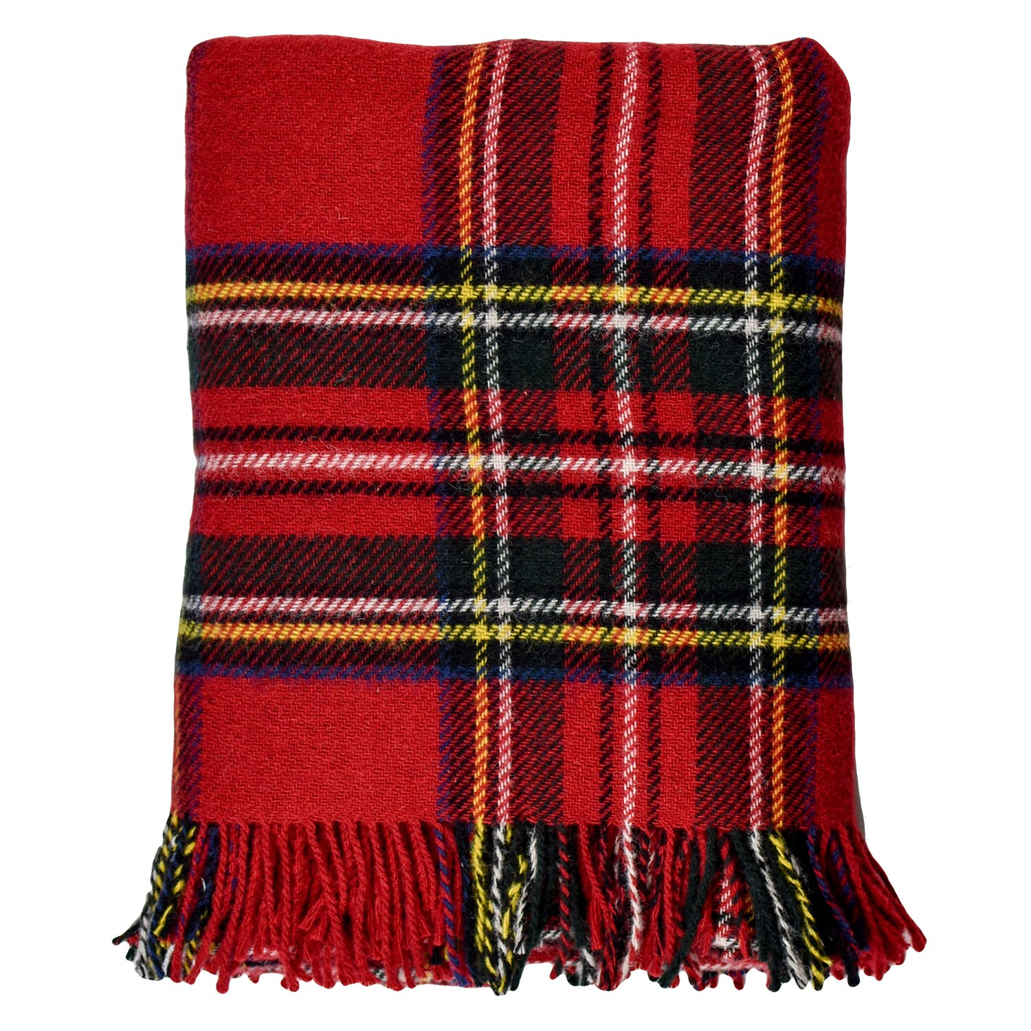 Royal Stewart Highland Tartan Pure Wool Throw Blanket