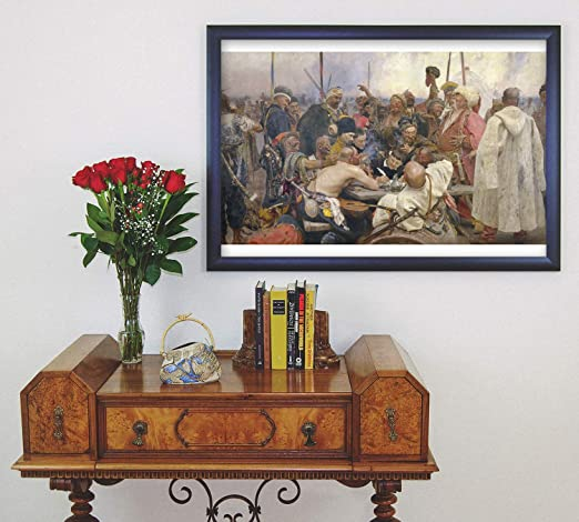wall26 Reply of the Zaporozhian Cossacks to Sultan Mehmed IV Canvas 32 x 48