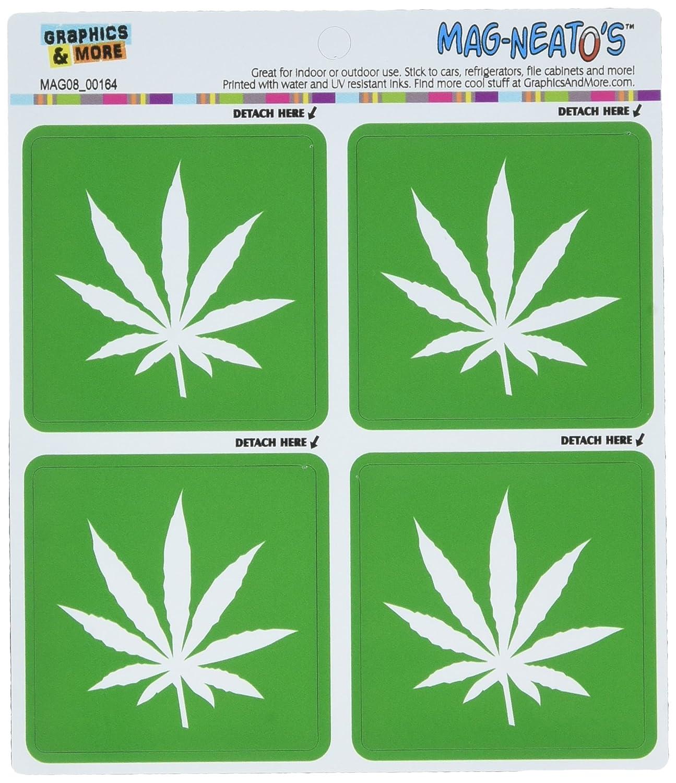Graphics and More Gráficos y más Marihuana Hoja mag-Neato del automóvil Coche Lado Locker Vinilo imán Set: Amazon.es: Hogar