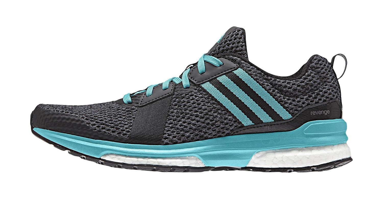 Adidas Revenge W, Zapatillas de Running para Mujer 37 1/3 EU Negro / Verde / Negro (Negbas / Verimp / Negbas)
