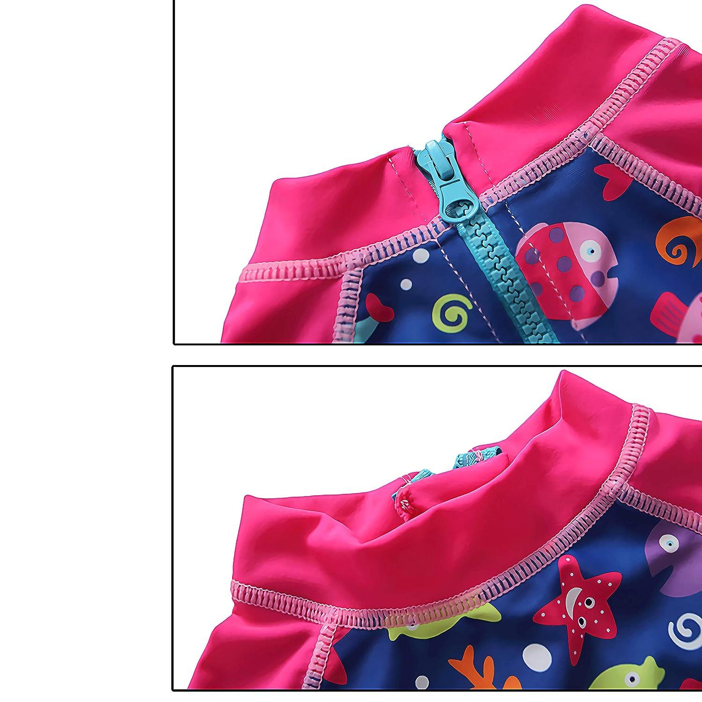 Gashguard Long Sleeve Swimsuit Black Swan One Piece Swim Suit 1-5Year 7-Mi Kids Girls UPF50
