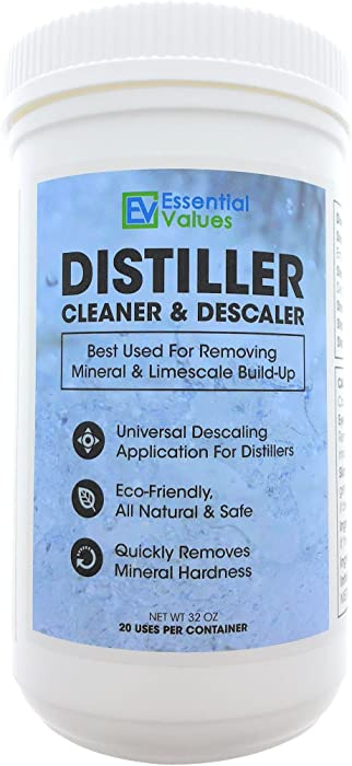 Distiller Cleaner Descaler (2 LBS), Citric Acid - Universal Application for Waterwise, Natural & Safe – Deeply Penetrates LimeScale & Water Mineral Build-up, Compare to KleenWise by Essential Values