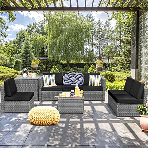 Tangkula 8 PCS Outdoor Patio Furniture Set