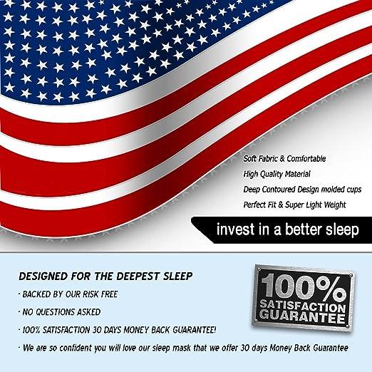 Sueño eléctrica ® Sleep Mask - la Natural apagado Master dormir máscara extra suave & seda venda, antifaz y tapones para los oídos - el perfecto ojo máscara ...