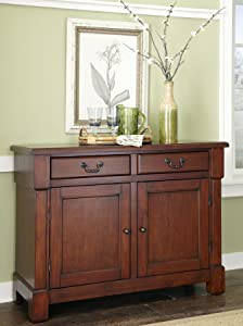 Home Styles 5520-61 The The Aspen Collection Buffet, Rustic Cherry