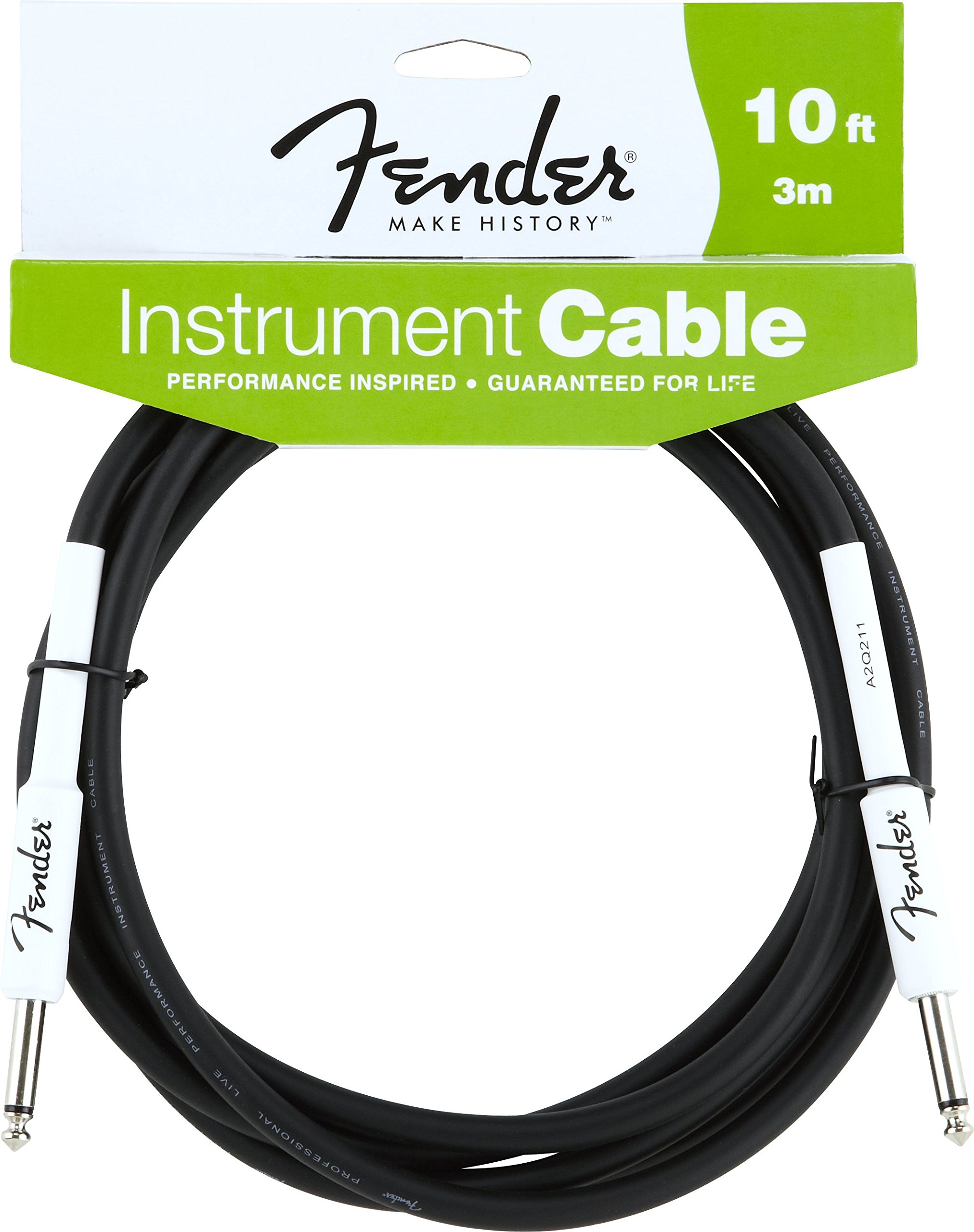 Fender Performance Series Instrument Cables (1/4 Straight-to-Straight) for electric guitar, bass guitar, electric mandolin, pro audio by Fender