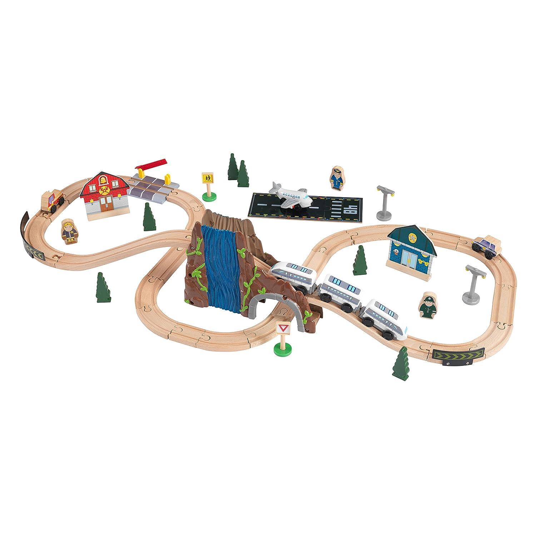 KidKraft - Euro Express, circuito / vías de tren (17989): Amazon.es: Juguetes y juegos