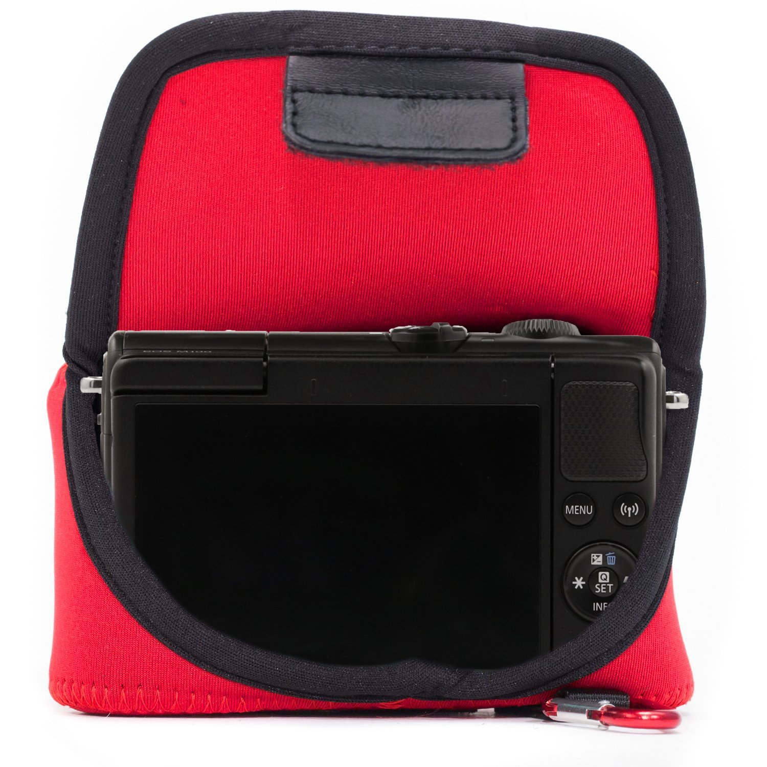 Black MegaGear MG1320 Ultra Light Neoprene Case with Carabiner for Canon EOS M100 Camera