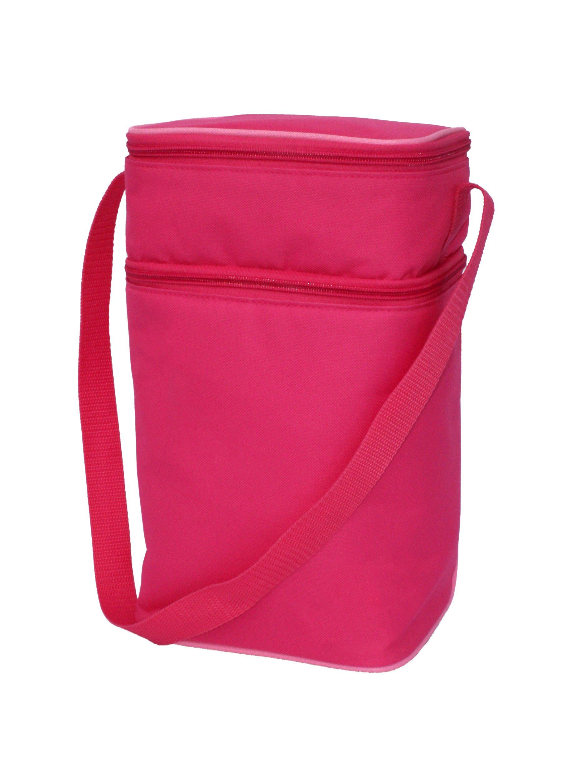 J.L. Childress 6 Bottle Cooler, Insulated Breastmilk Cooler & Lunch Bag for Baby Food & Bottles, Leak-Proof & Heat-Sealed, Ice Pack Included, Pink by J.L. Childress