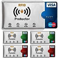 RFID Blocker Karte Tüv Geprüft NFC Blocking Card Schutzkarte, Nie Wieder Einzelne Schutzhülle für Kreditkarten, Geldbörse, Personalausweis, Kreditkartenetui, EC Karten, Reisepass (Schutzhülle)