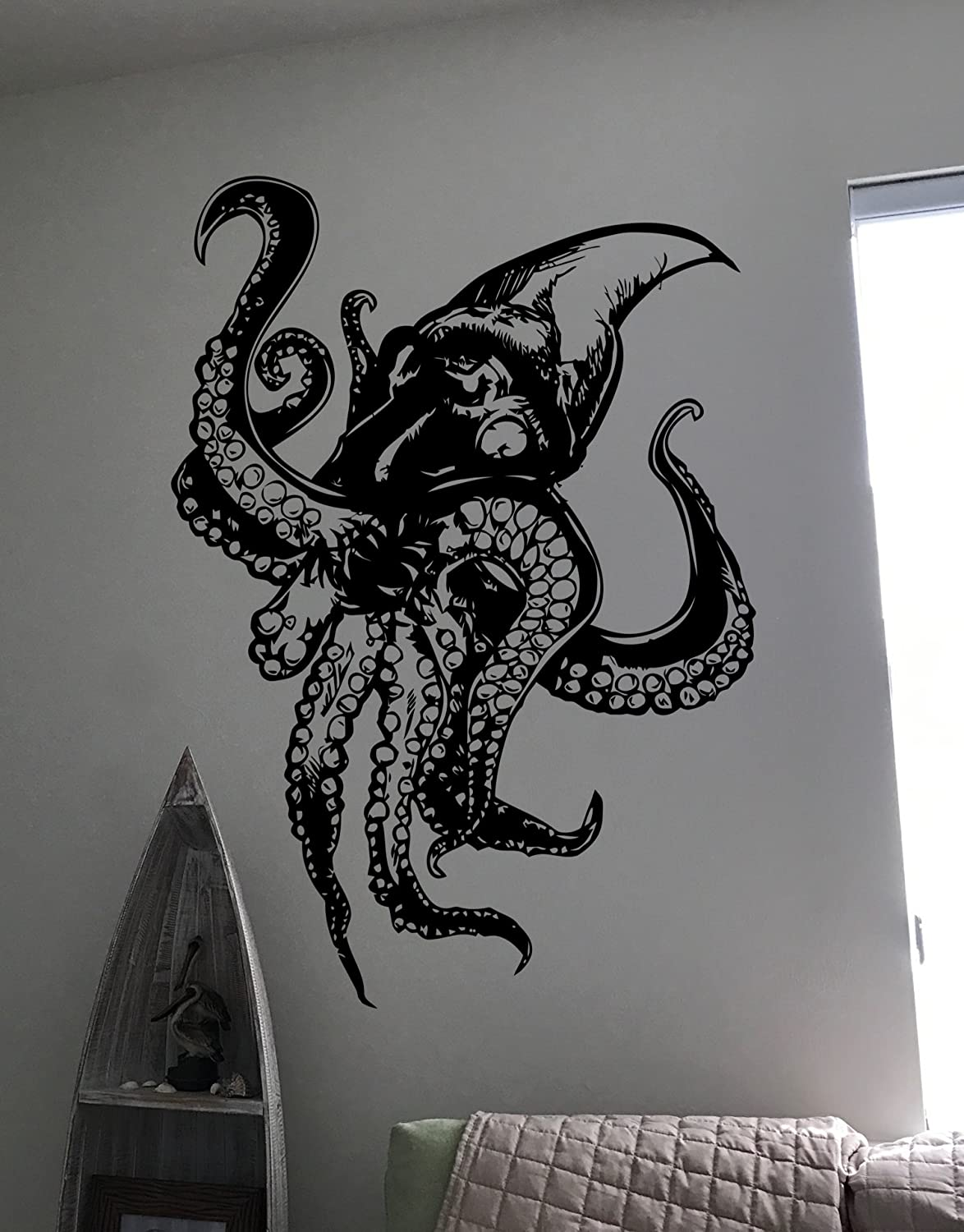 Octopus Wall Decal 23 tall x 28 wide