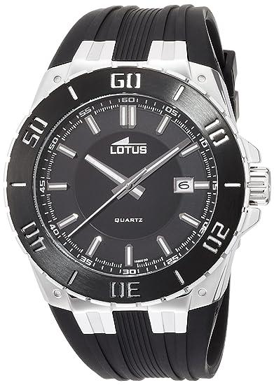 Lotus 15805/3 - Reloj analógico de cuarzo para hombre con correa de caucho, color negro: Lotus: Amazon.es: Relojes