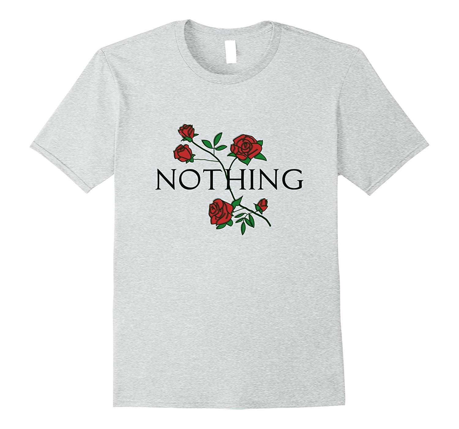 Nothing Rose Floral T-Shirt - Aesthetic Flower Tee-CL