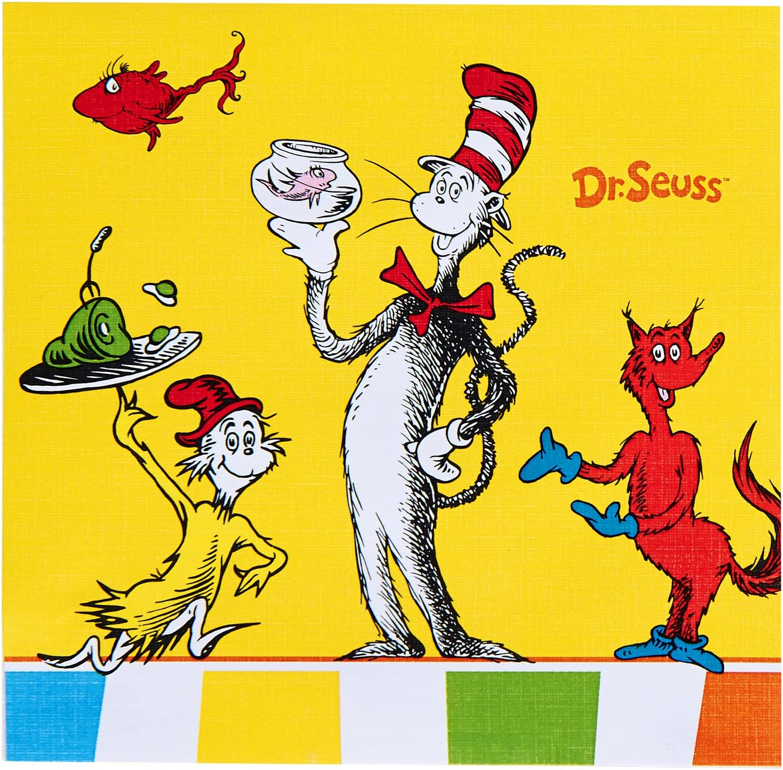 Birthday Express Dr Seuss Favorites Beverage Napkins Set of 20