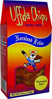 product image for Uffda Chips - Made From Real Lefse By Norsland Lefse (Seasoned Salt)