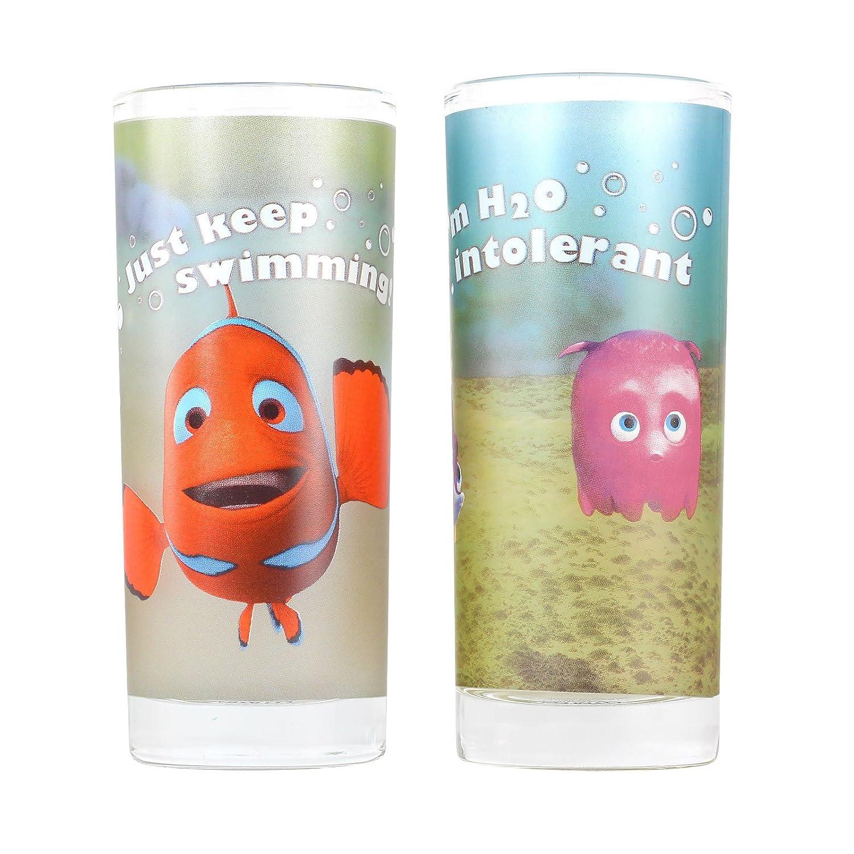 Finding Nemo - Just Keep Swimming Glass Tumbler Set Disney
