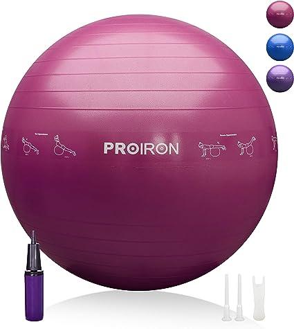 PROIRON Pelota de Pilates 65cm Fitball Pilates Pelota Embarazo ...