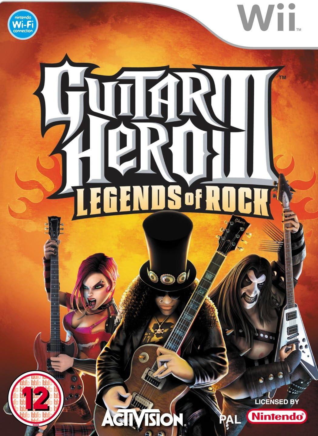 Wii - Guitar Hero 3: Legends of Rock + Les Paul Gitarre: Amazon.es ...