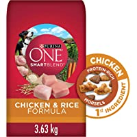 Purina ONE Smartblend Natural Dry Dog Food, Chicken & Rice 3.63 kg