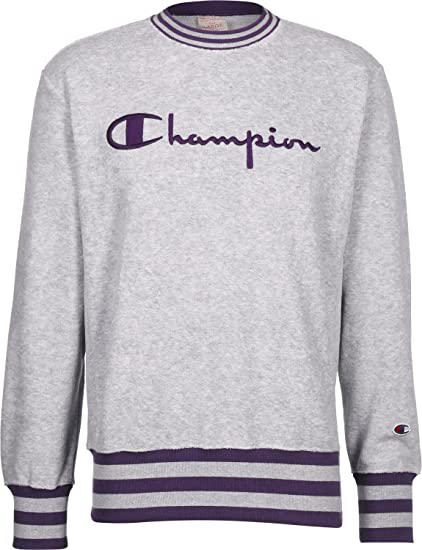 ukClothing Greypurple Champion Towelling Sweatshirt SAmazon co 34jLcRqS5A