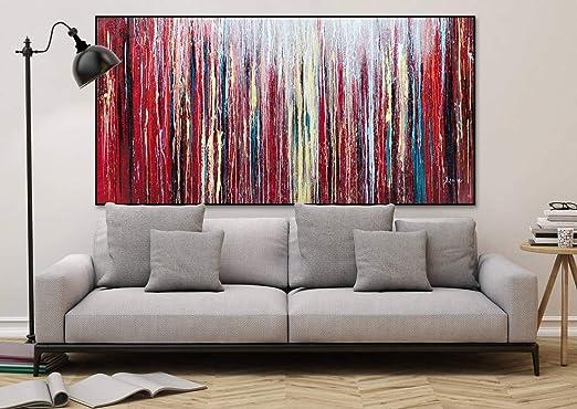 Kunstloft® Extraordinario Cuadro al óleo Rojo como la ...