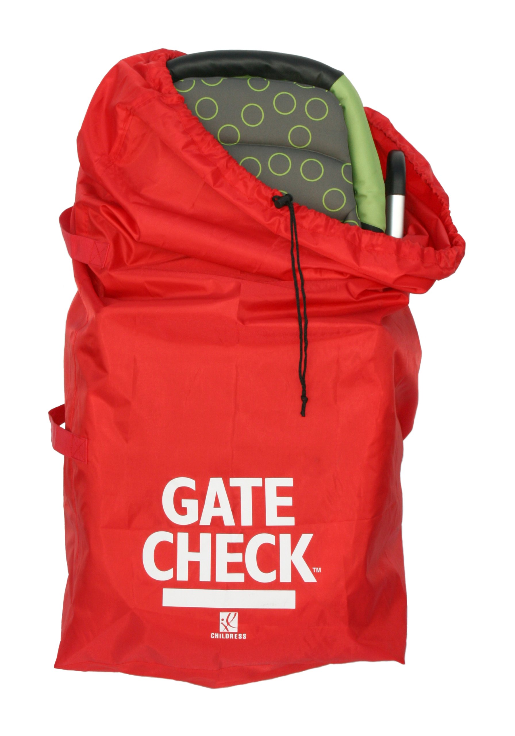 J.L. Childress Gate Check Bag For Standard and Double Strollers, Red by J.L. Childress (Image #2)