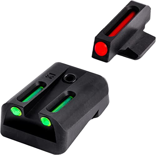 TRUGLO Fiber-Optic Front and Rear Handgun Sights for Kimber 1911 Models with Fixed Rear Sight, Black, One Size (TG131K)