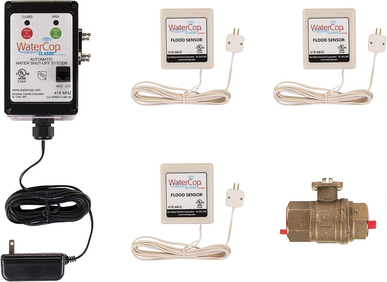 WaterCop Classic, 1 in Lead Free Ball Valve, Actuator, 3 Sensors