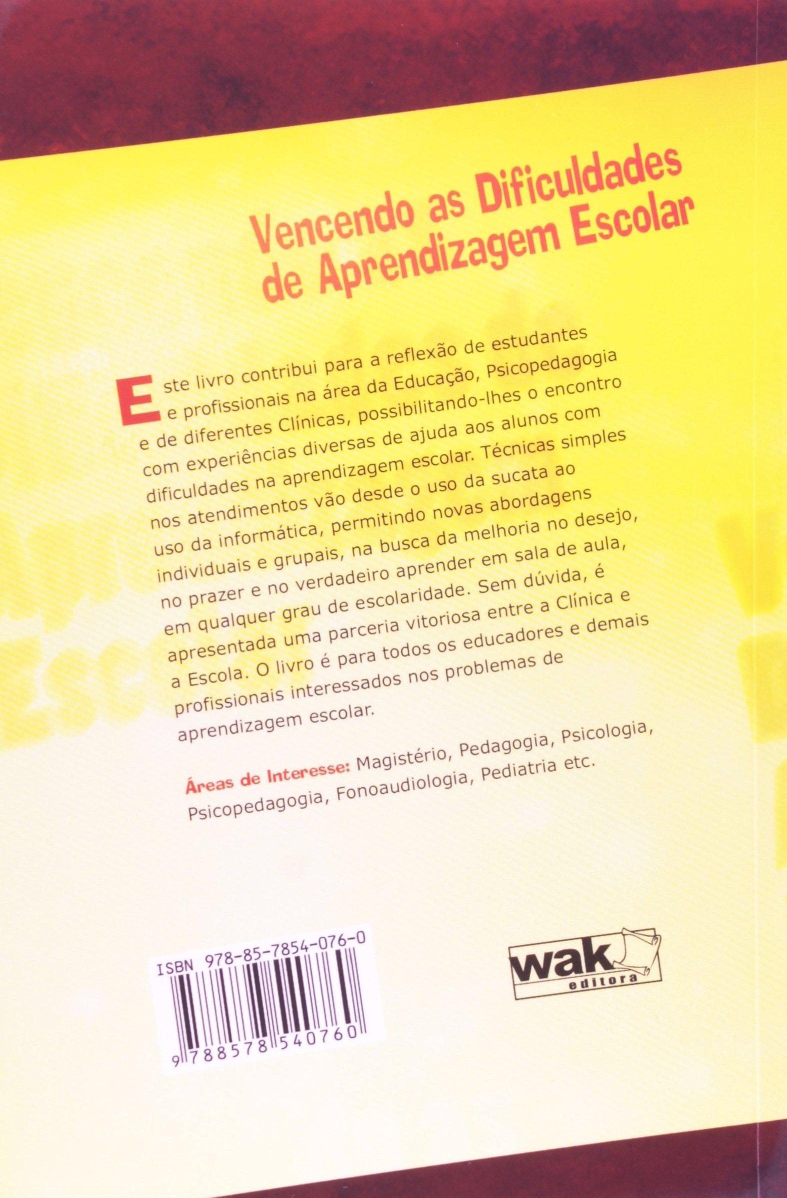 livro vencendo as dificuldades de aprendizagem escolar