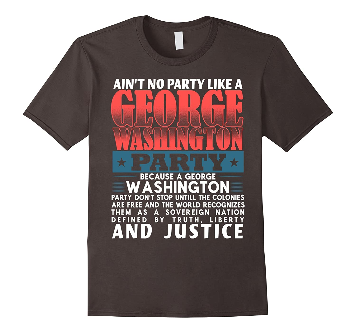 Funny Patriotic 4th of July George Washington Party Shirt