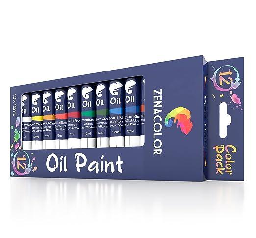 25 opinioni per Set da 12 tubetti di pittura a olio Zenacolor – Confezione da 12 x 12mL –