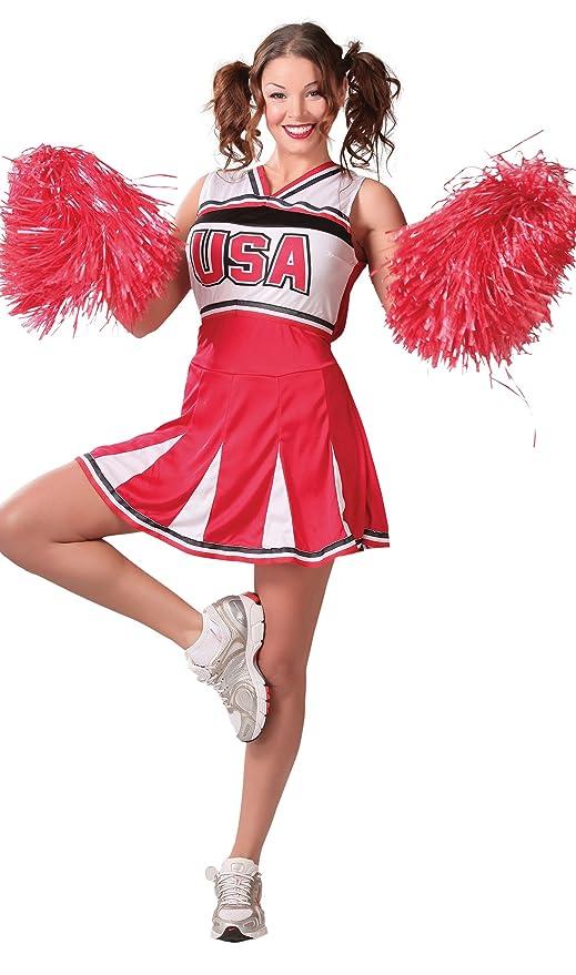 Fiestas Guirca Costume da Cheerleader Donna  Amazon.it  Sport e ... 10b6083bba4