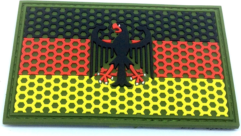 Deutsch Deutschland Gitter Wappen Flagge Airsoft Klettverschluss Pvc Mannschaft Patch Sport Freizeit