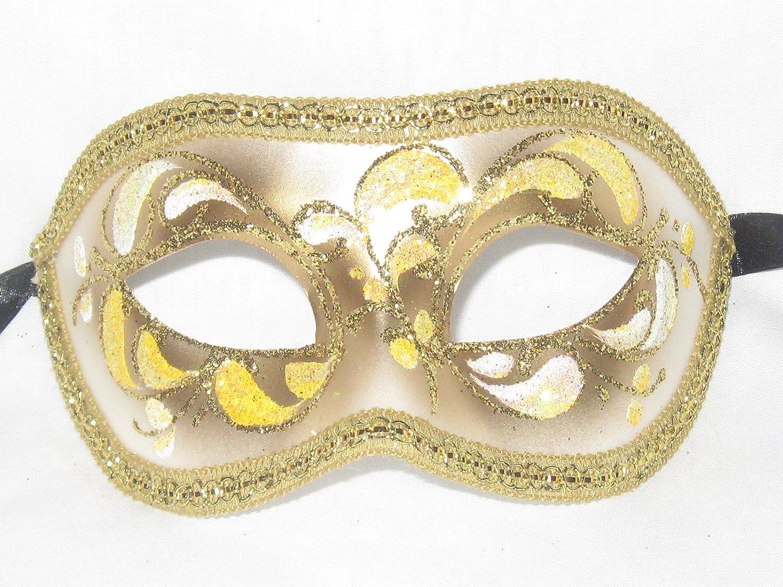 Amazon.com: Venice Buys Venetian Masks Yellow Colombina Acquario ...