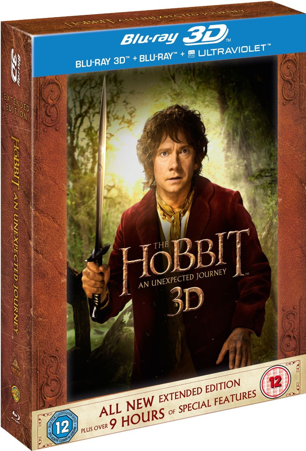 The Hobbit: An Unexpected Journey - Extended Edition [Blu-ray 3D + Blu-ray]