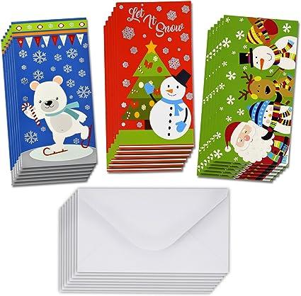 Amazon.com: 36 tarjetas de regalo de Navidad – Soporte para ...