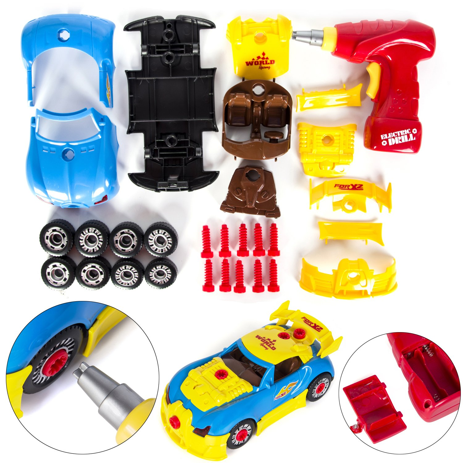 Toy Car Little Mechanic Build Yourself DIY Racecar Assembly Kit