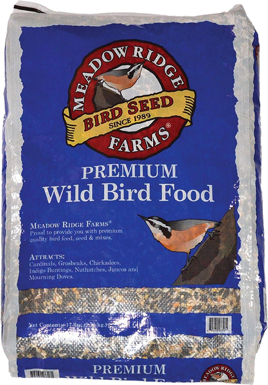 Meadow Ridge Farms Premium Wild Bird Seed Mix, 17-Pound Bag