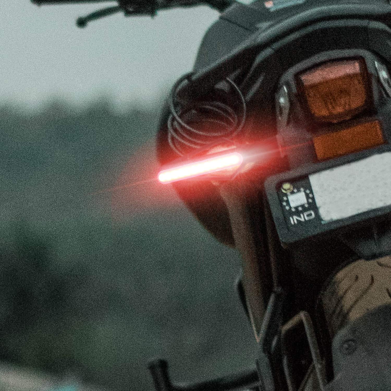 Clignotants LED Indicateurs De Moto Clignotants Lumi/ères 12 V 12LEDs pour Moto Scooter Quad Cruiser Off Road Bicyclette-2pcs. B jaune+blanc