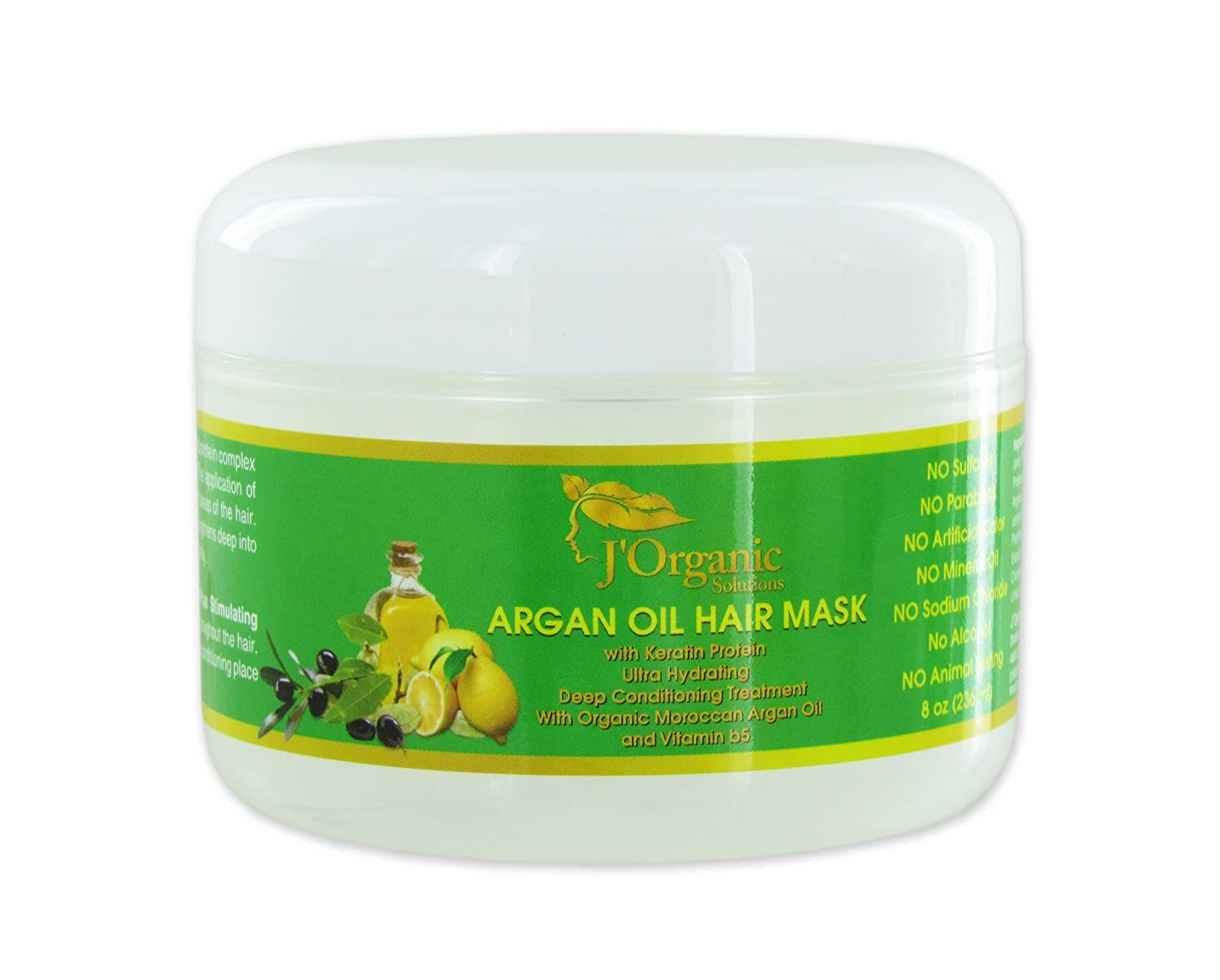J'Organic Solutions Argan Oil Deep Conditioning Mask (for all hair type) with Keratin Protein and Vitamin b5 & more