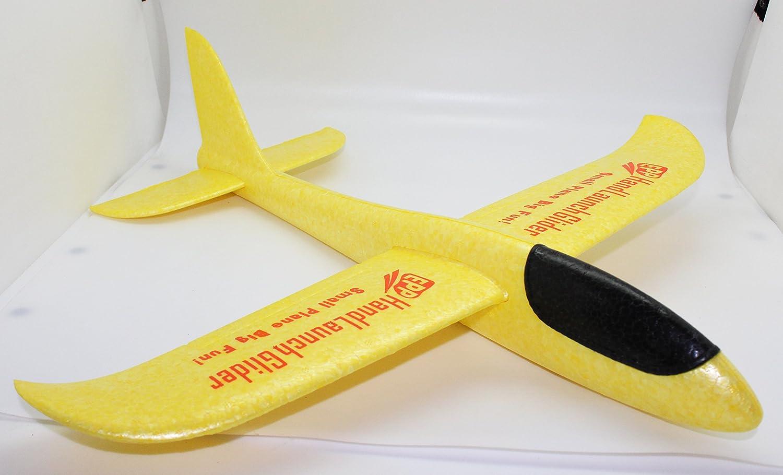 Mini Hand Launch Glider Avión Planeador de lanzamiento de mano EPP vuelo Libre (480Azul+Naranja) GENIUS