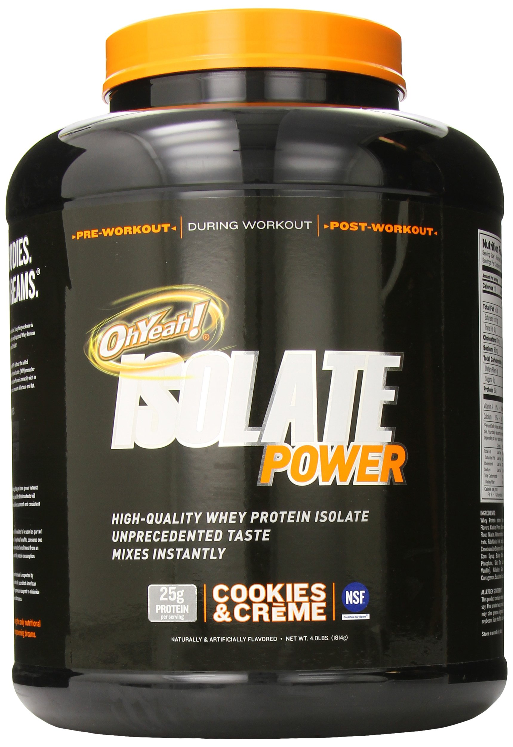 ISS Research OhYeah! Isolate Power, Cookies and Creme, 4 Pound